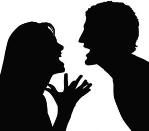 old couple quarrel