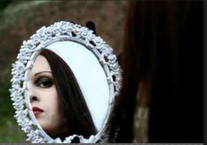 mirror looking