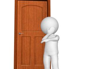 MAN on the door