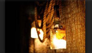 Old rum bottles