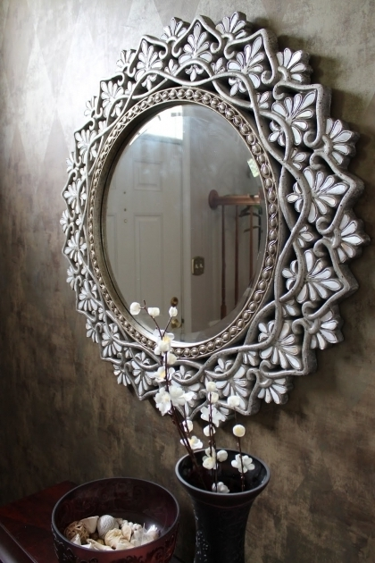 Gorgeous Pier One Decorative Mirrors Pier 1 Round Shell Mother Of Pearl Mirror In An Entryway For